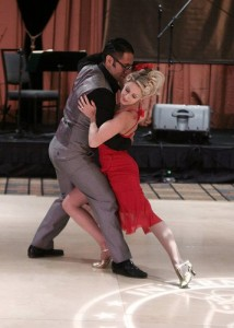 Mikey Pedroza and Nikki Marvin dancing the slow drag.