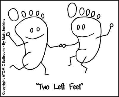 danse avec dux pieds gauches