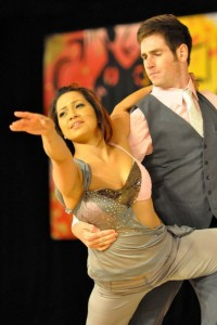 Malia San Nicolas and Ryan Crutcher debuted their new routine this year.