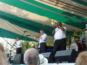 The Preservation Hall Stars Band at Jackson Square.