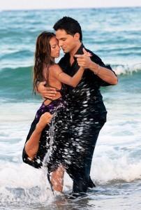 tango en la playa